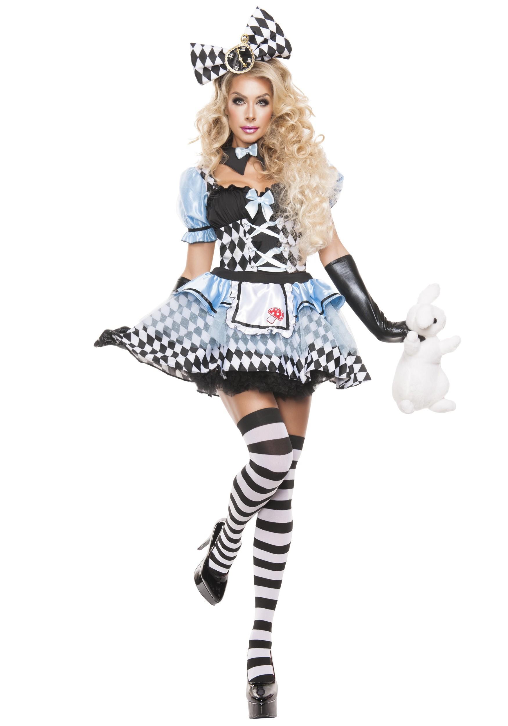 womens glam alice costume