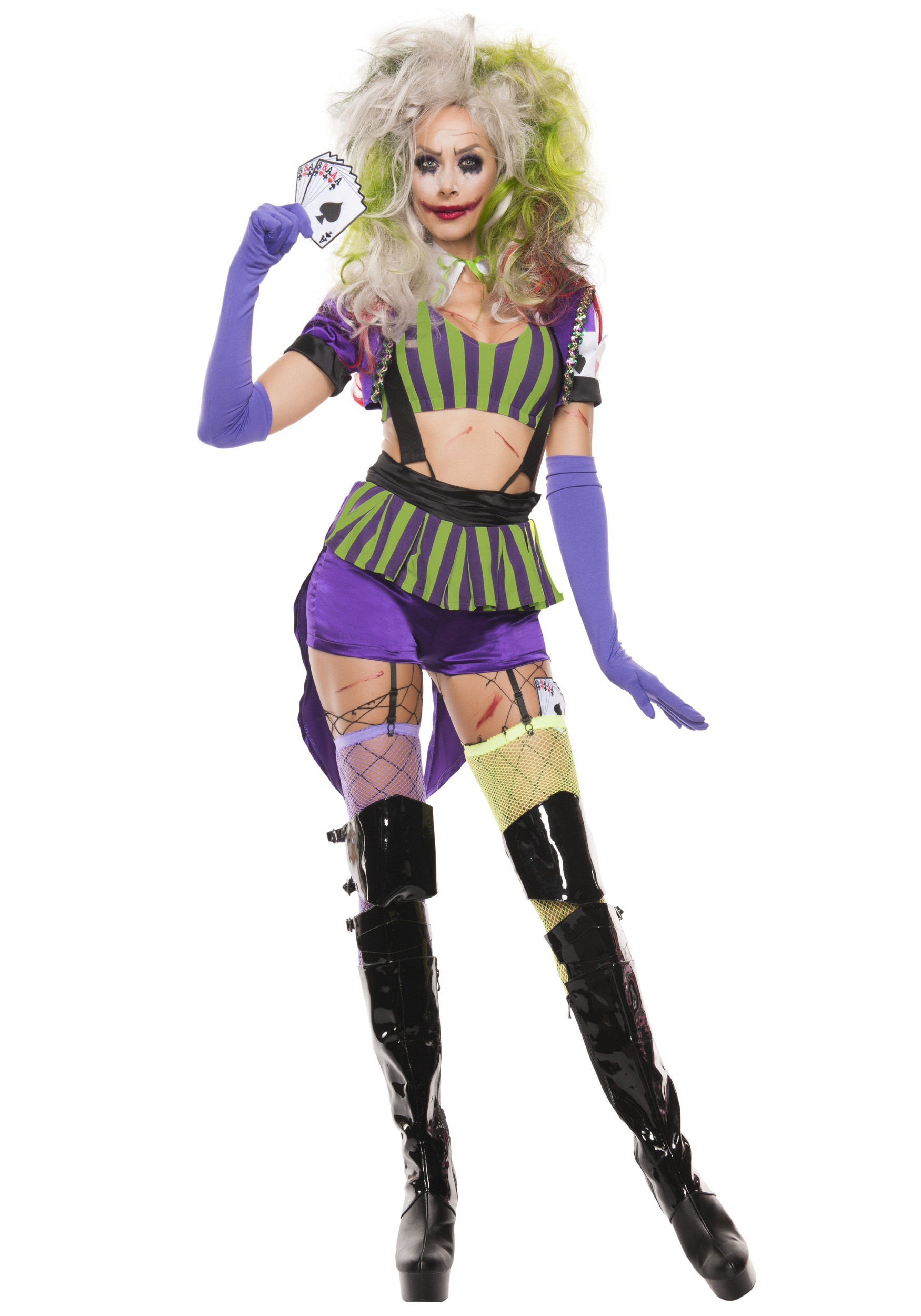 Womenu0027s Sexy Mad Villain  sc 1 st  Halloween Costumes & Adults Kids Joker Costumes