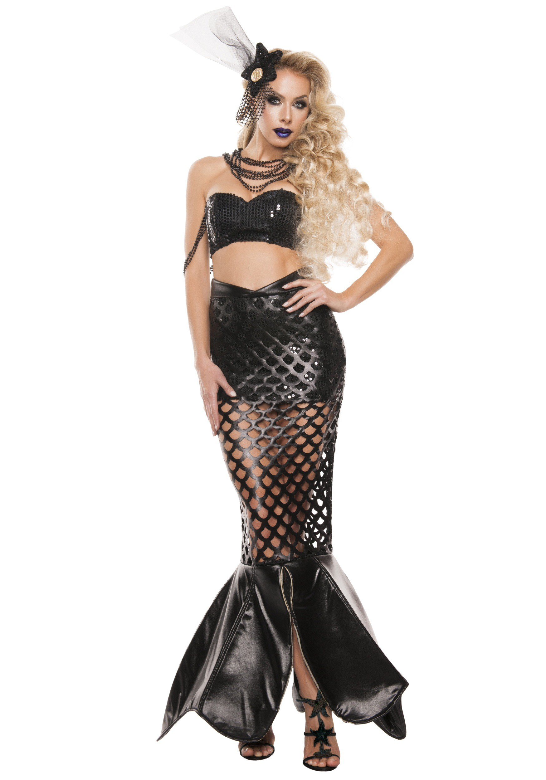 womens sexy noir mermaid