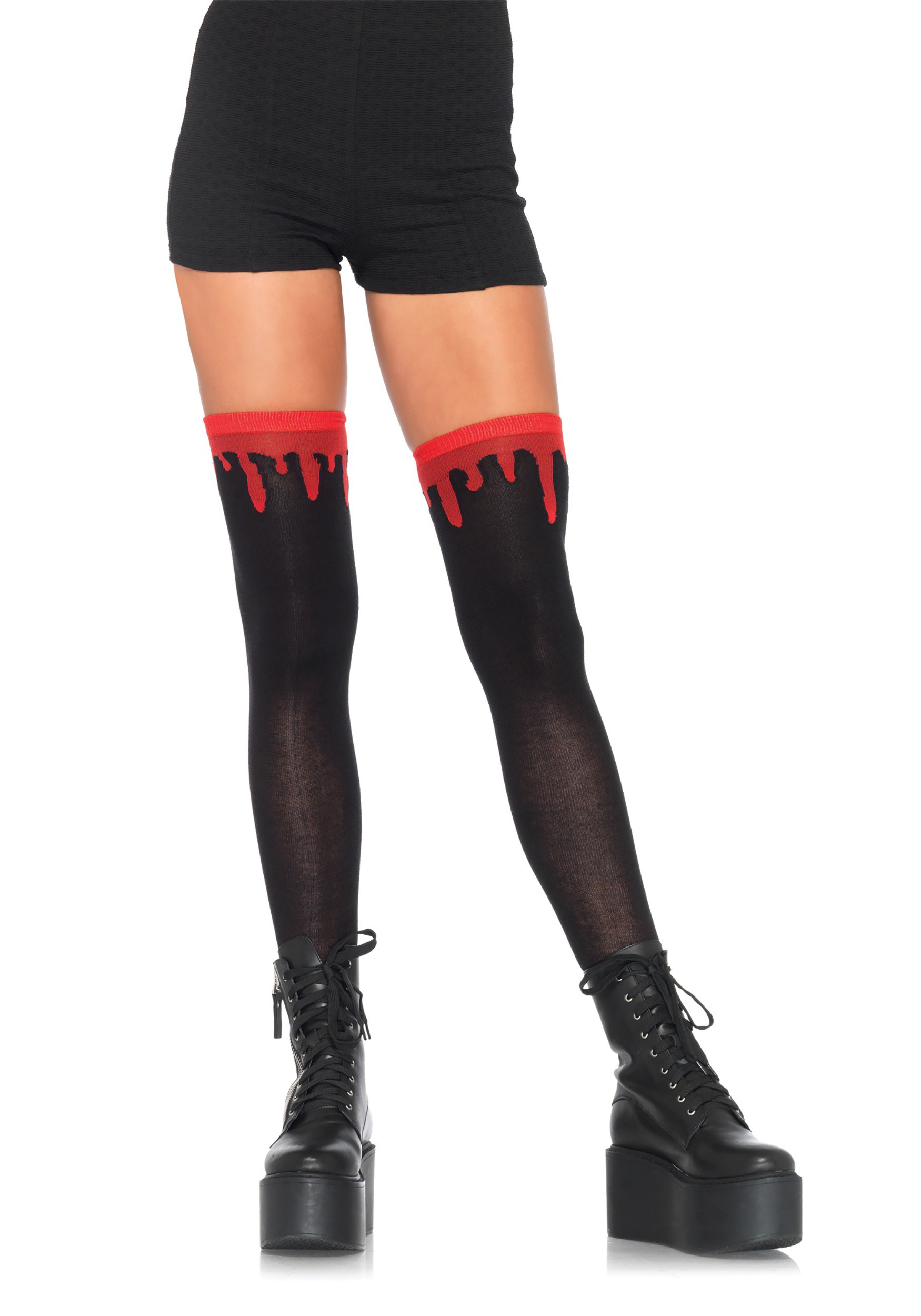 0fa558cf1d0 Women s Dripping Blood over the Knee Socks