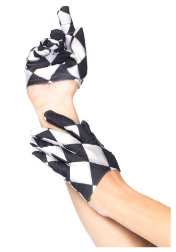 Harlequin Mini Cropped Gloves By: Leg Avenue for the 2015 Costume season.