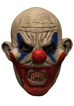Clooney Clown w/Teeth Adult Mask
