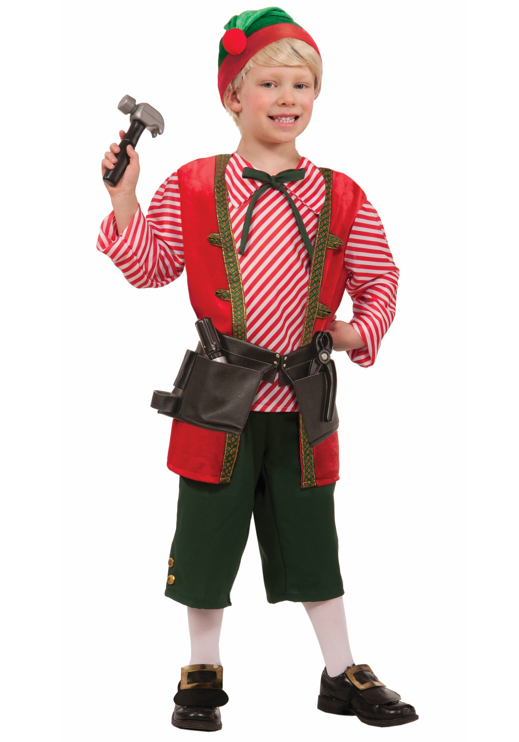 Child Toy Maker Elf Costume - Costume