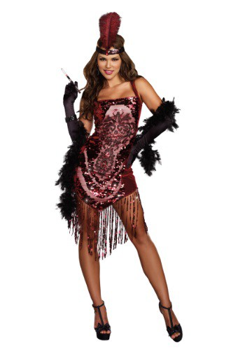 Click Here to buy Womens Gatsby Girl Flapper Costume from HalloweenCostumes, USA Funds & Shipping