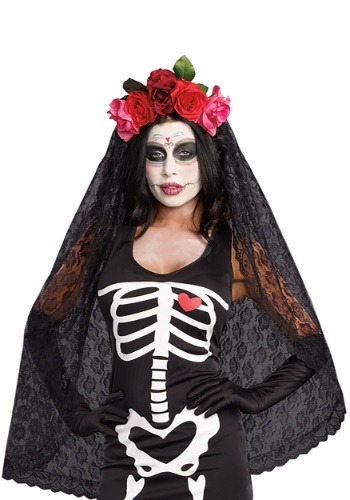 Women's Day of the Dead Headpiece Accessory