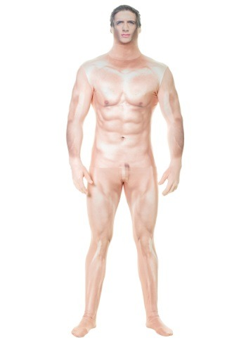 Click Here to buy Adult Naked Sexy Man Faux Real Morphsuit from HalloweenCostumes, USA Funds & Shipping