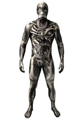 Click Here to buy Adult Skull & Bones Skeleton Morphsuit from HalloweenCostumes, USA Funds & Shipping