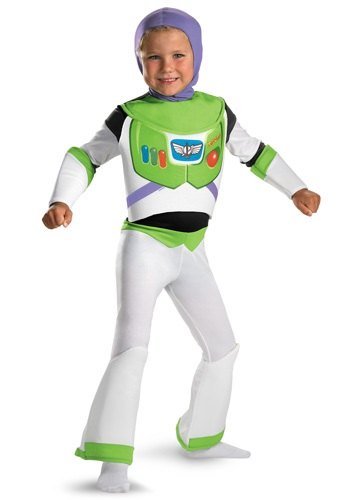 Click Here to buy Kids Deluxe Buzz Lightyear Costume from HalloweenCostumes, CDN Funds