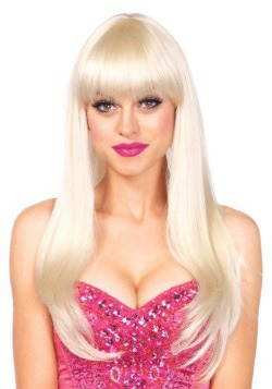 Blonde Straight Wig with Bangs