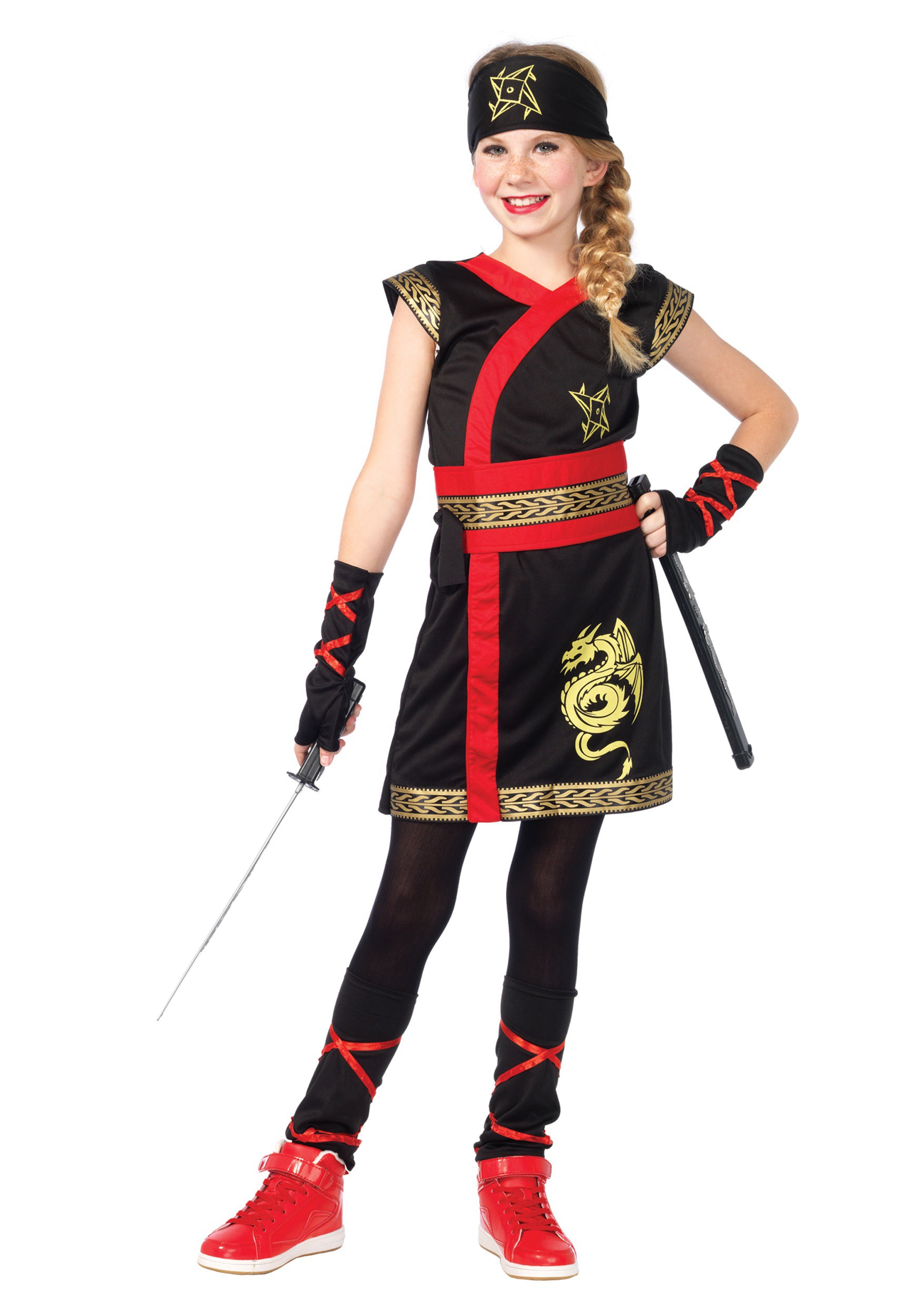 Girls Ninja Warrior Costume