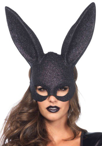 Black Glitter Bunny Mask By: Leg Avenue for the 2015 Costume season.