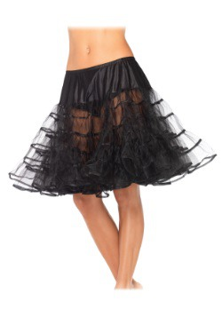 Women's Knee Length Black Petticoat