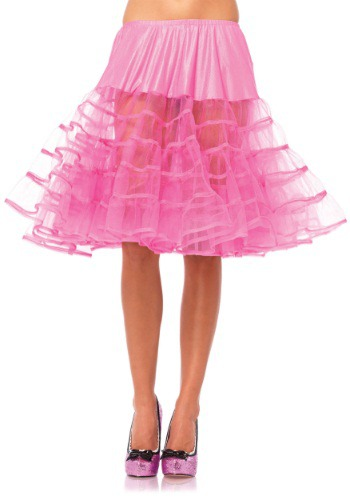 Click Here to buy Womens Knee Length Pink Petticoat from HalloweenCostumes, USA Funds & Shipping