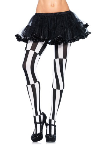 Plus Size Striped Optical Illusion Tights By: Leg Avenue for the 2015 Costume season.