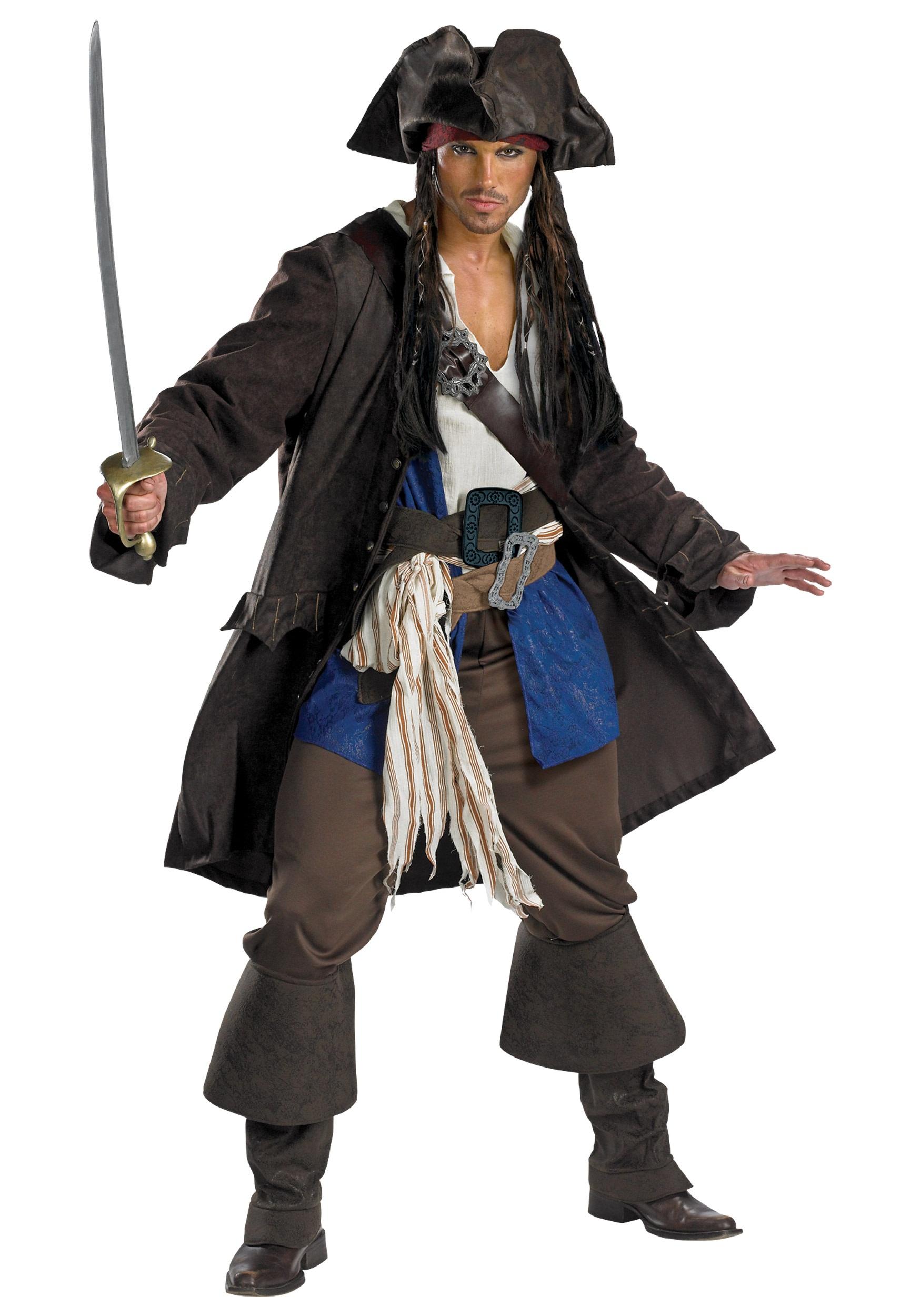 Prestige Adult Captain Jack Sparrow Costume. Product Description
