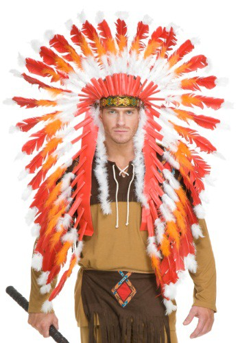 Click Here to buy Adult Native American Chieftain Headdress from HalloweenCostumes, USA Funds & Shipping
