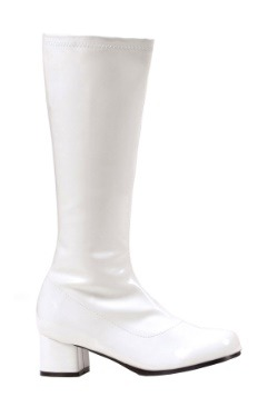 Girls White Go Go Boots