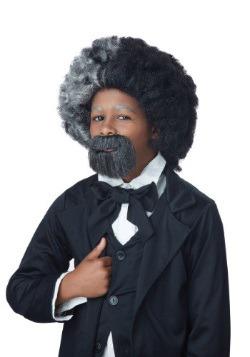 Child Frederick Douglass Wig and Goatee