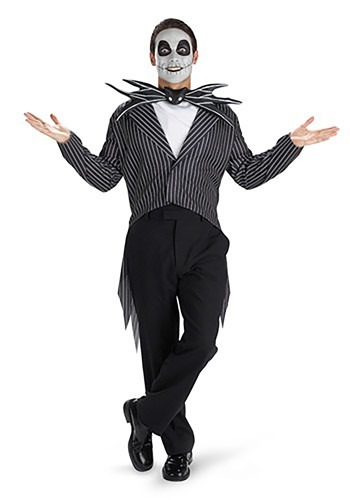 Mens Jack Skellington Costume - Tim Burton Movie Costumes