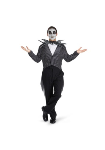 Click Here to buy Mens Jack Skellington Costume - Tim Burton Movie Costumes from HalloweenCostumes, CDN Funds