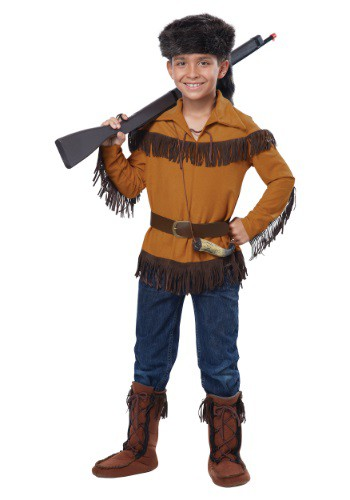 Click Here to buy Kids Davy Crockett Costume from HalloweenCostumes, USA Funds & Shipping