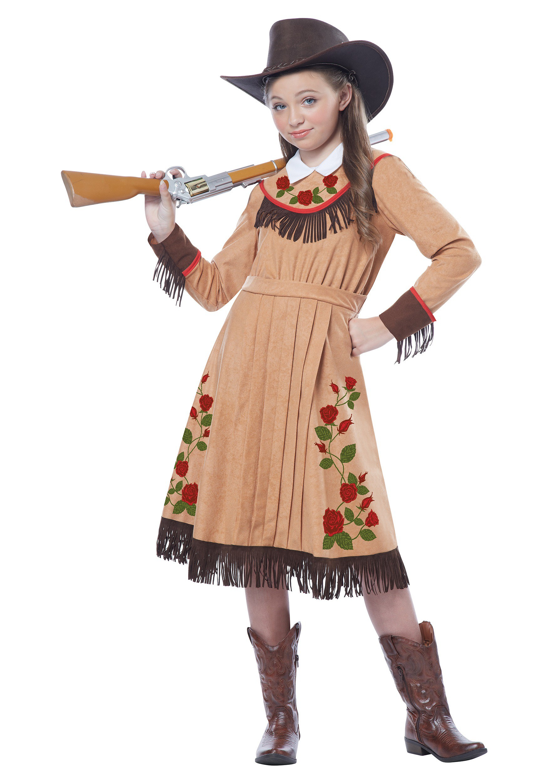 Girlu0027s Annie Oakley Costume  sc 1 st  Halloween Costumes : cowgirl costume for teens  - Germanpascual.Com