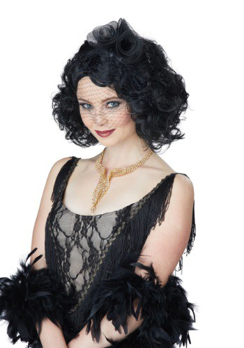 Women's Black Savoir Faire Wig By: California Costume Collection for the 2015 Costume season.