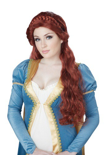 Women's Auburn Medieval Beauty Wig By: California Costume Collection for the 2015 Costume season.