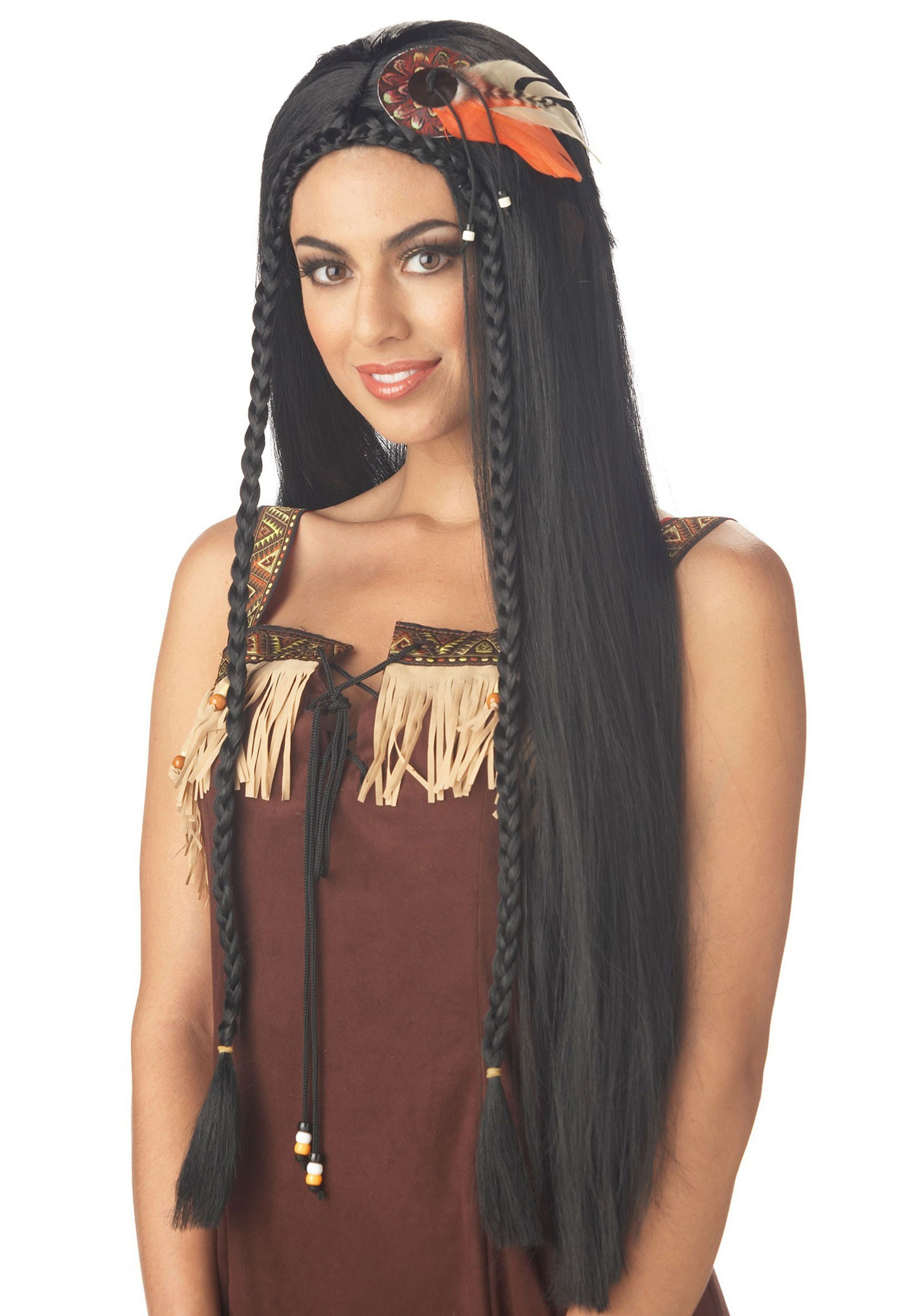 Womens Sexy Indian Princess Wig  sc 1 st  Halloween Costumes & Womenu0027s Native American Princess Wig