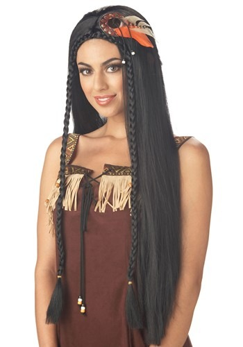 Women's Sexy Indian Princess Wig By: California Costume Collection for the 2015 Costume season.