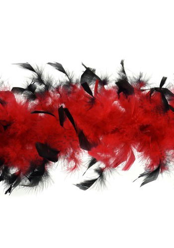 Medium Weight Boa Red with Black Tips By: Zucker Feather for the 2015 Costume season.