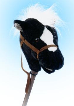 "Easy Ride 'Em 33"" Black Horse on a Stick"
