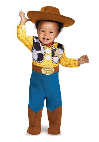 Click Here to buy Baby Deluxe Woody Costume from HalloweenCostumes, CDN Funds
