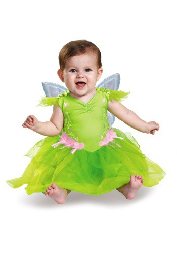 Click Here to buy Tinker Bell Deluxe Baby Costume from HalloweenCostumes, USA Funds & Shipping