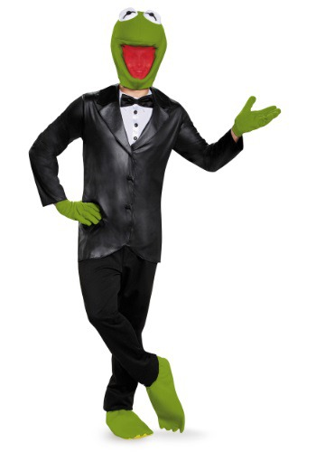 Click Here to buy Deluxe Kermit the Frog Adult Costume from HalloweenCostumes, USA Funds & Shipping