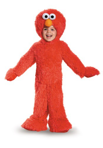 Click Here to buy Baby/Toddler Elmo Plush Costume from HalloweenCostumes, USA Funds & Shipping