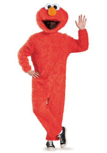 Click Here to buy Adult Prestige Elmo Costume from HalloweenCostumes, USA Funds & Shipping