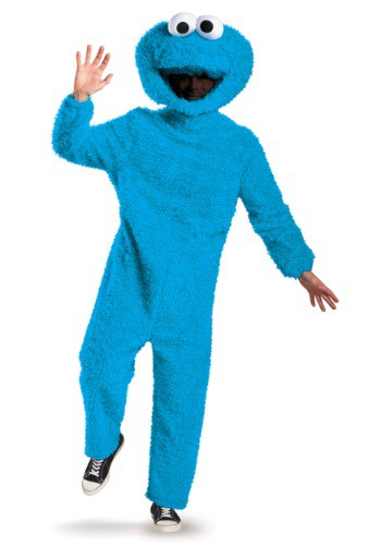 Click Here to buy Adult Prestige Cookie Monster Costume from HalloweenCostumes, USA Funds & Shipping