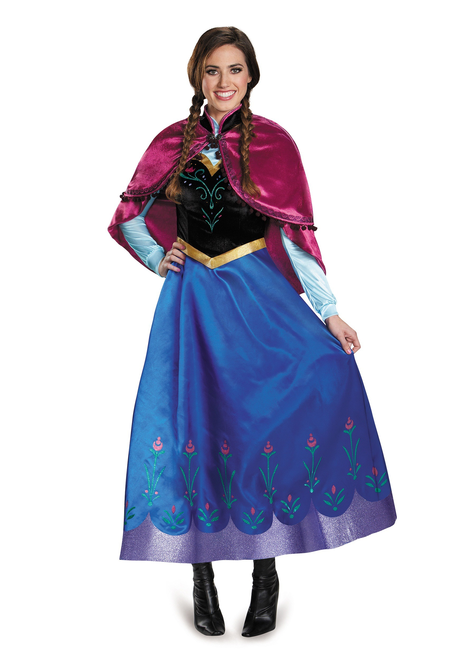 frozen traveling anna prestige adult costume. Black Bedroom Furniture Sets. Home Design Ideas