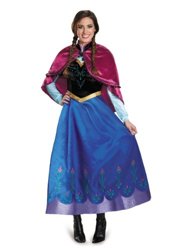 Click Here to buy Frozen Traveling Anna Prestige Adult Costume from HalloweenCostumes, USA Funds & Shipping