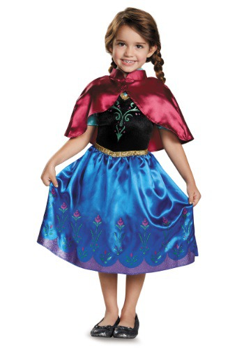 Click Here to buy Frozen Traveling Anna Classic Toddler Costume from HalloweenCostumes, CDN Funds