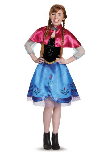 Tween Frozen Traveling Anna Costume By: Disguise for the 2015 Costume season.