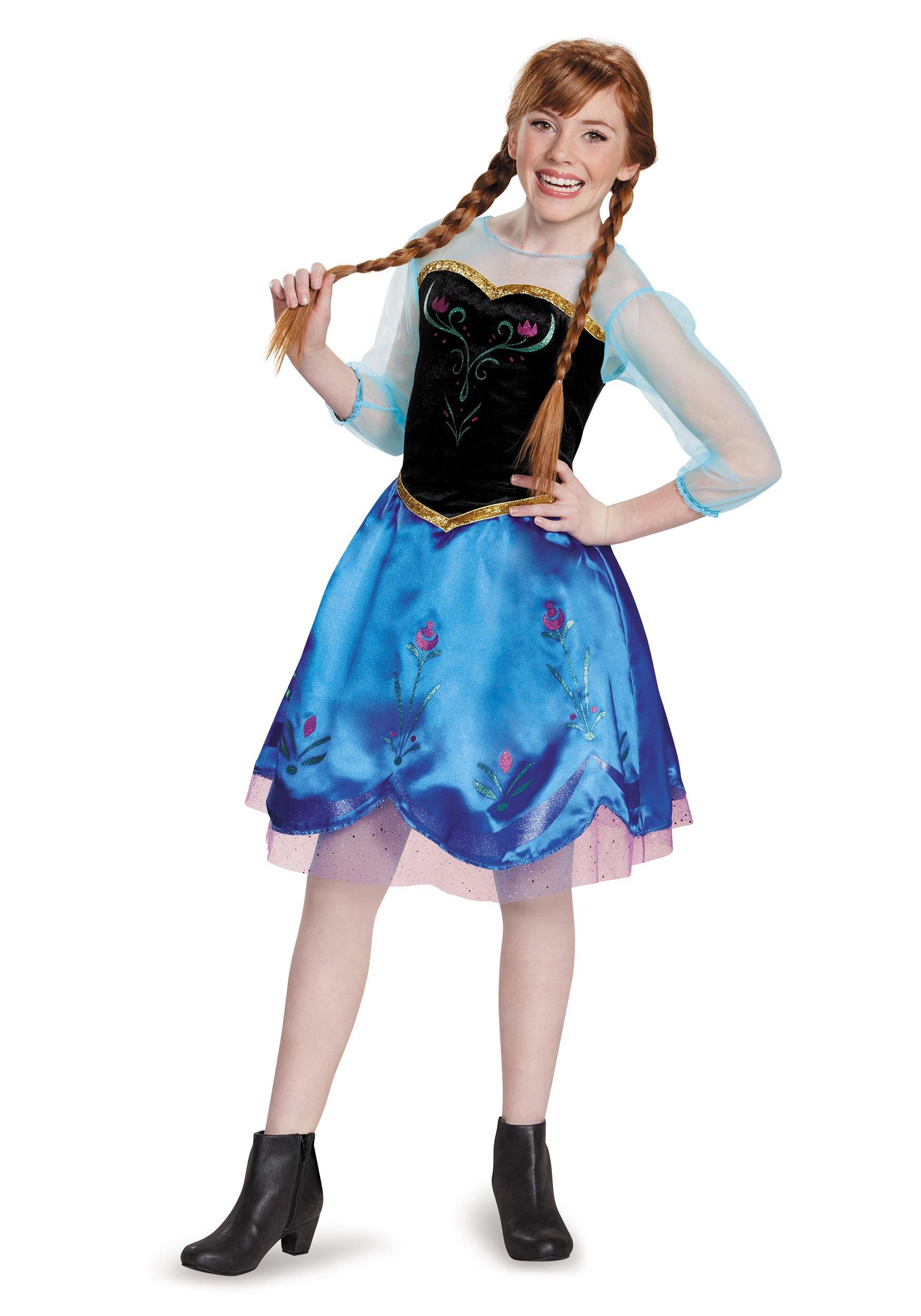 sc 1 st  Halloween Costumes & Tween Frozen Traveling Anna Costume