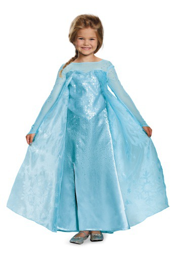 Click Here to buy Girls Frozen Elsa Ultra Prestige Costume from HalloweenCostumes, CDN Funds