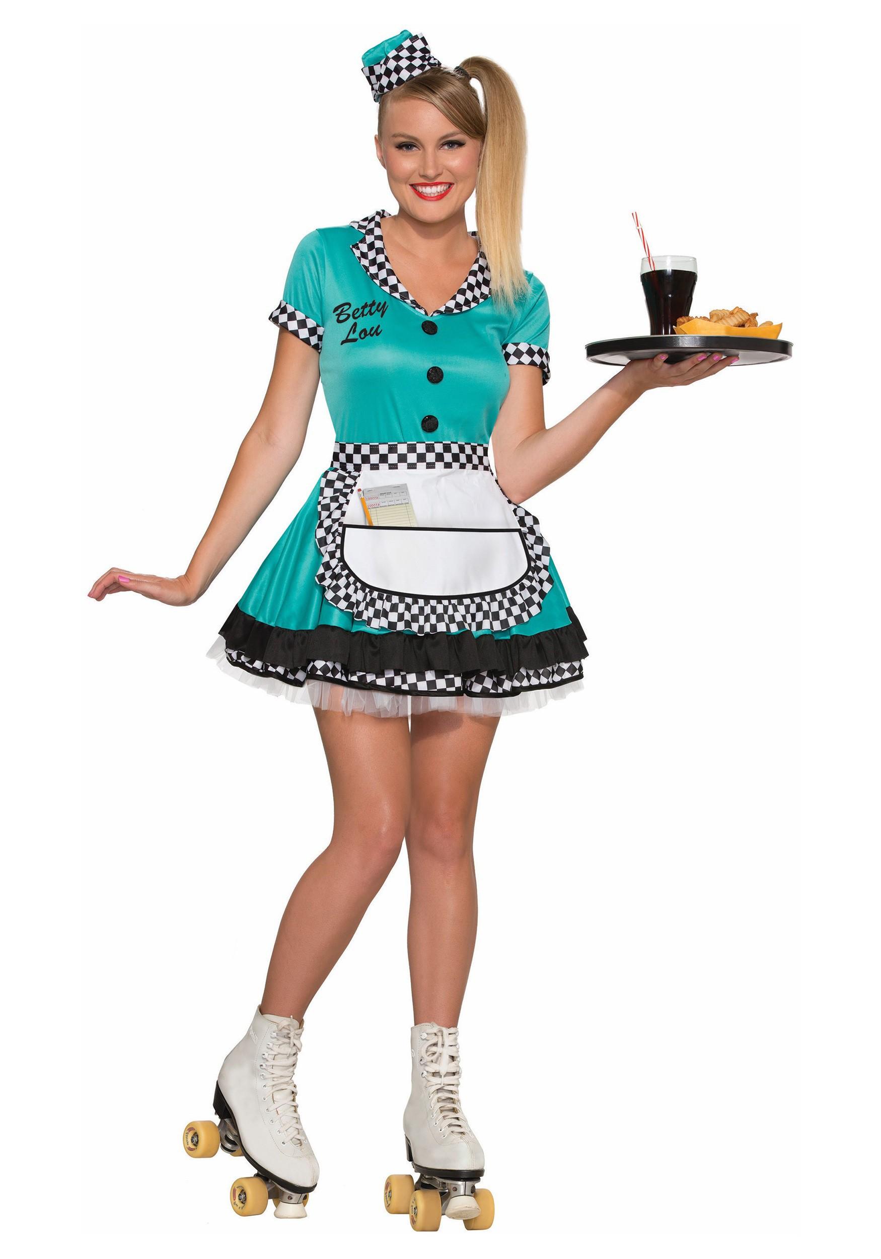 Womens Car Hop Costume 50s Car Hop Halloween Costumes ...