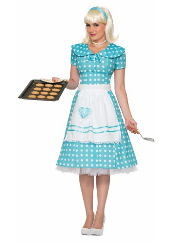 Click Here to buy Womens Polka Dot Housewife Costume from HalloweenCostumes, USA Funds & Shipping