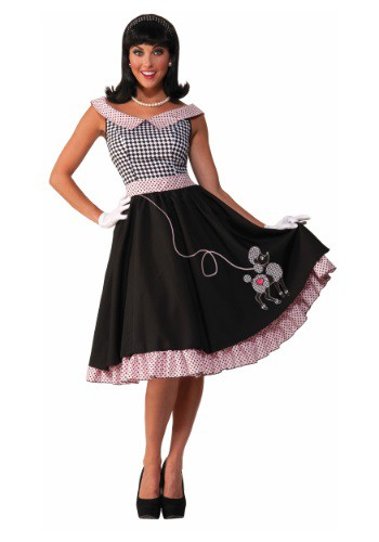 Click Here to buy Womens 50s Checkered Cutie Costume from HalloweenCostumes, USA Funds & Shipping