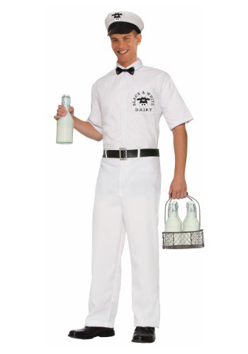 Click Here to buy Mens Vintage Milkman Costume from HalloweenCostumes, CDN Funds