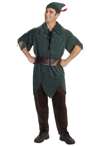 Click Here to buy Adult Peter Pan Costume from HalloweenCostumes, USA Funds & Shipping