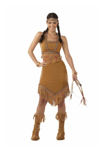 Click Here to buy Womens Native American Cutie Costume from HalloweenCostumes, CDN Funds